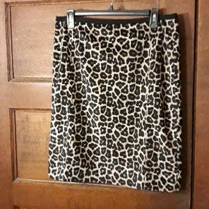Liz Claiborne Career Leopard Print Skirt 12P